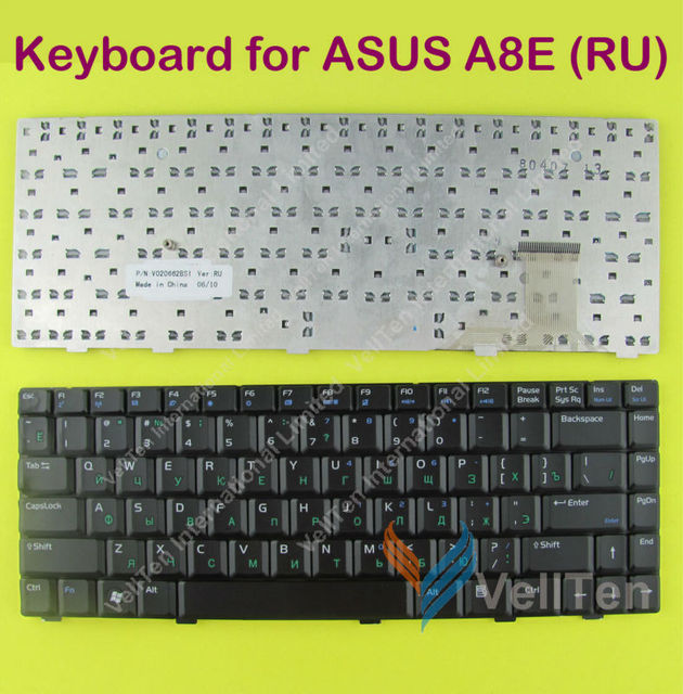 orginal new Laptop Keyboard for Asus A8 A8E A8J A8H A8M A8F W3 F8 F8P N80 N80Vc N81 N81V Z99 Z99F Notebook keyboards RU Russian