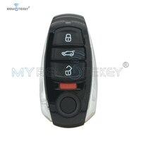 Remtekey botón 4 315Mhz IYZVWTOUA para Volkswagen Touareg 2011  2012  2013  2014  2015  2016 inteligente de la llave del coche|Llave de coche| |  -