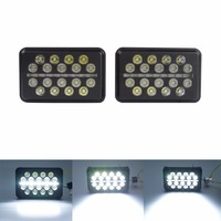 Pair 40W Square Spot LED Lights Work Lamps For ATV UTV Jeep Truck SUV Off Road Project Vehicle