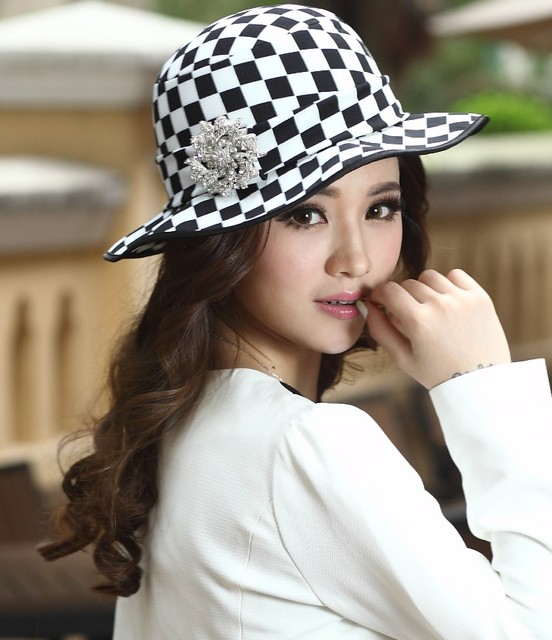 Free Shipping Women Hats Church Winter Ladies  Satin Dress Chapeau Hat 100%  Polyester Formal Hat For Women Vintage Fashion 3b5da7206e8a