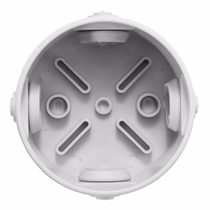 Waterproof up to IP44 80 x 40mm junction box CONTENITORE Raw materials With 4 x Rubber grommet ABS Material Grey
