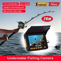 Free Shipping 1000TVL 20M 4 3 LCD 10pcs IR LED 150 Degrees Angle Underwater Monitor Camera