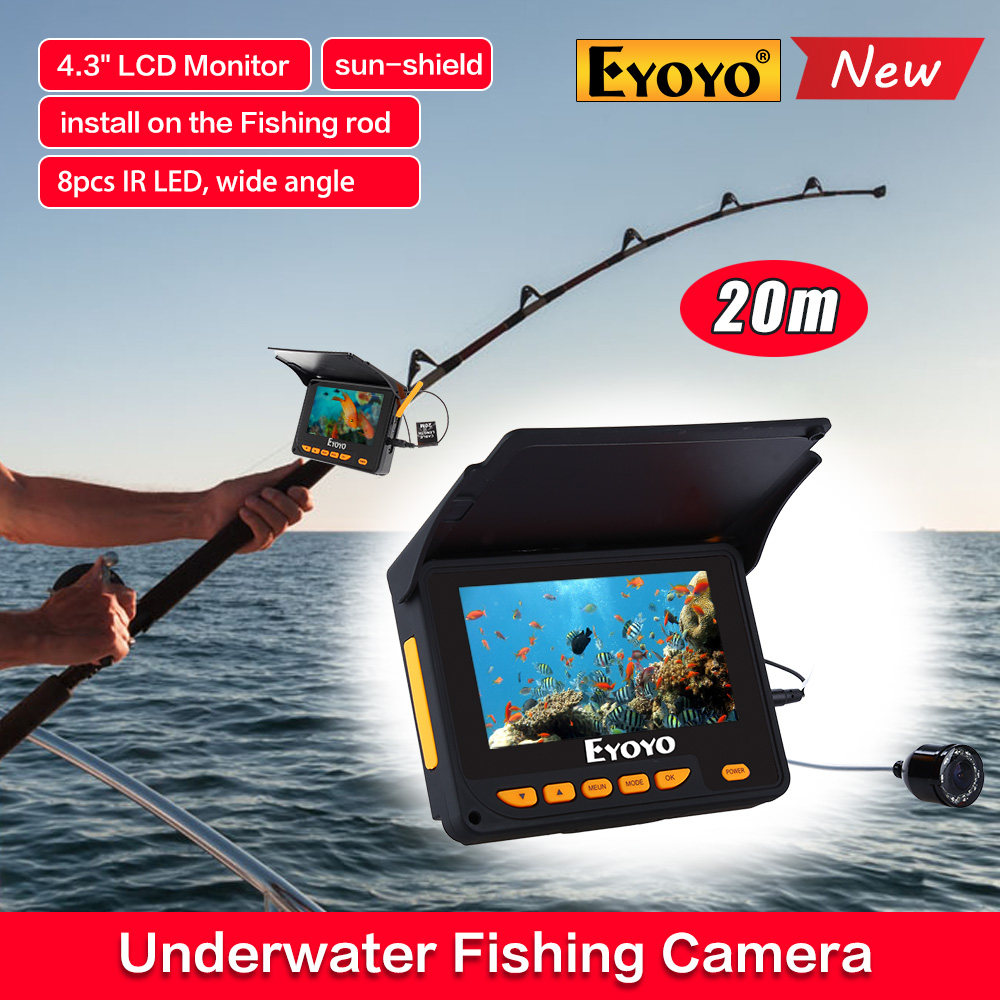 Video record fish finder underwater video fishfinder for Ice fishing locators