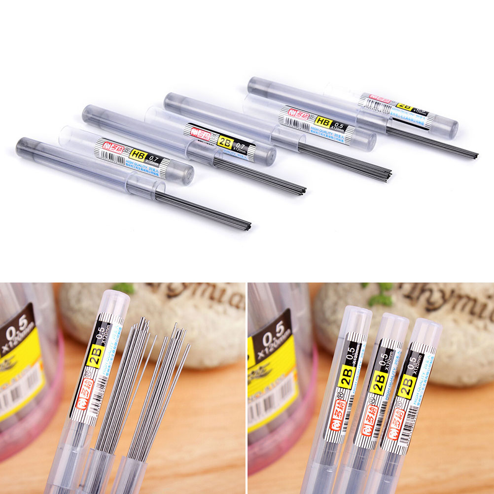 0.5 Mm / 0.7 Mm Automatic Pencil Lead Style 11CM 2B/HB Pencil Lead A Refill Tube
