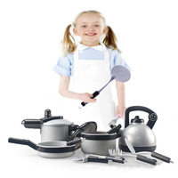 22Pcs Children Kitchen Cooking Toys Pretend & Play Game Early Educational Set Toys for Kids