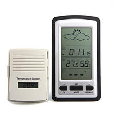 Cheap price 1pcs Multifunctional Wireless Outdoor Indoor Weather Station Thermometer Humidity Meter Digital LCD