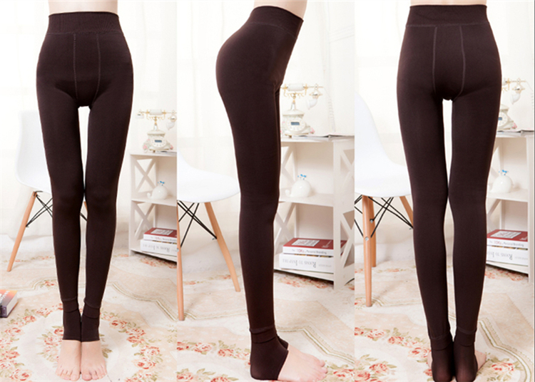 CHLEISURE Winter Warm Leggings Women High Waist Thick Velvet Legging Fashion Solid Large Size Autumn Leggings S-XL 8 Colors 18