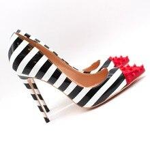 Free shipping fashion women Pumps lady zebra patent leather spikes Pointy toe high heels shoes Stiletto Heeled 12cm 10cm 8cm цены онлайн