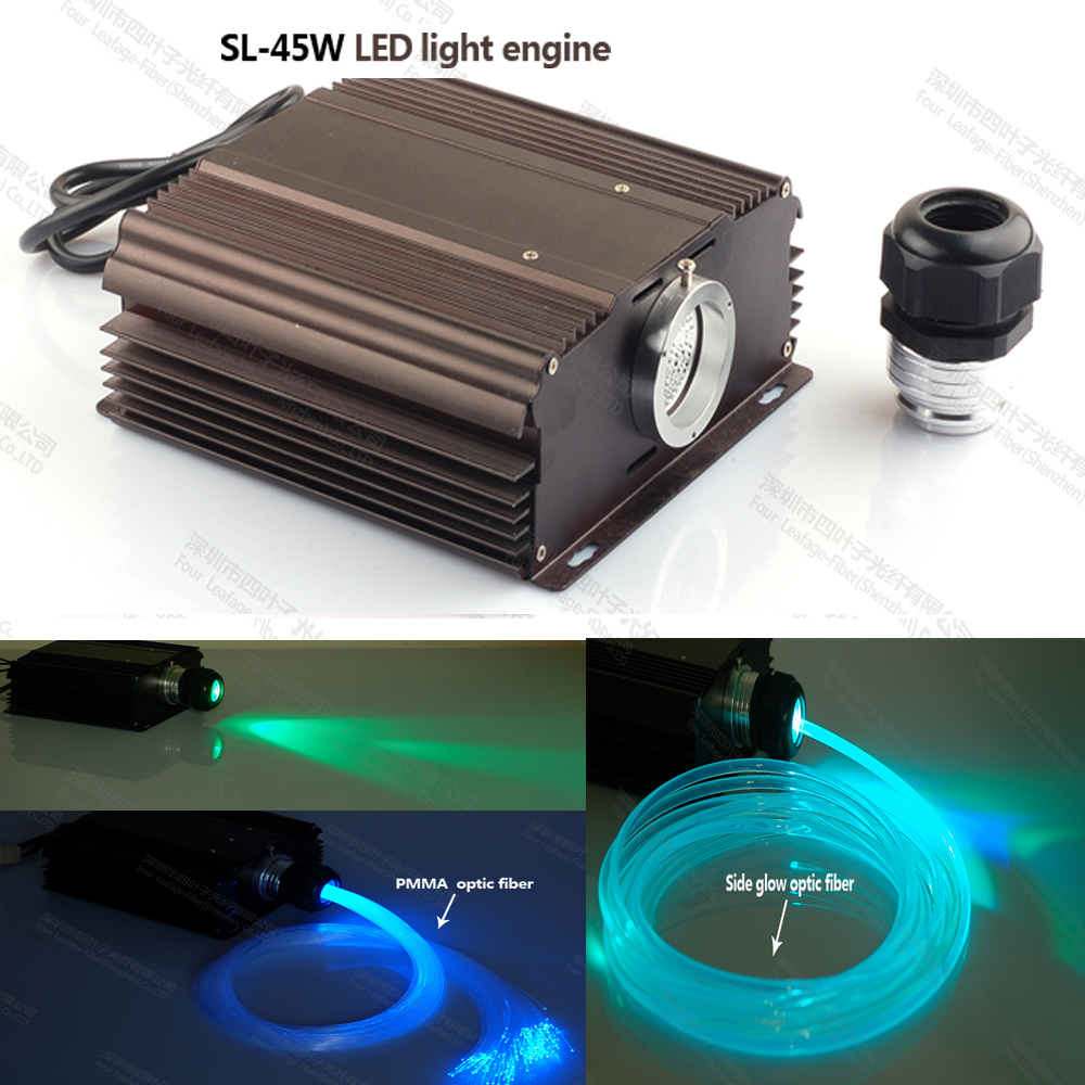 Super brightness 45w led fiber optic light engine with RGB IR 24key RF 20key remote control  10w rgb light with remote control special wholesale 10w infrared remote fiber optic lights