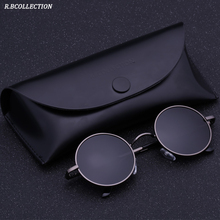 Black Metal Polarized Sunglasses Gothic Steampunk Mens Womens Fashion Retro Small Vintage Round Eyewear Shades