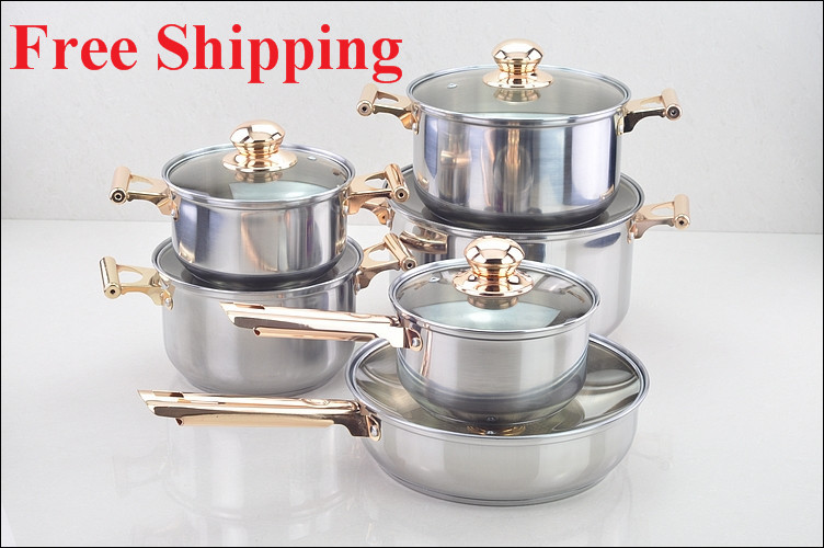 Cooking Tools Dhl Free Shipping Stainless Steel Copper Cooking Pots