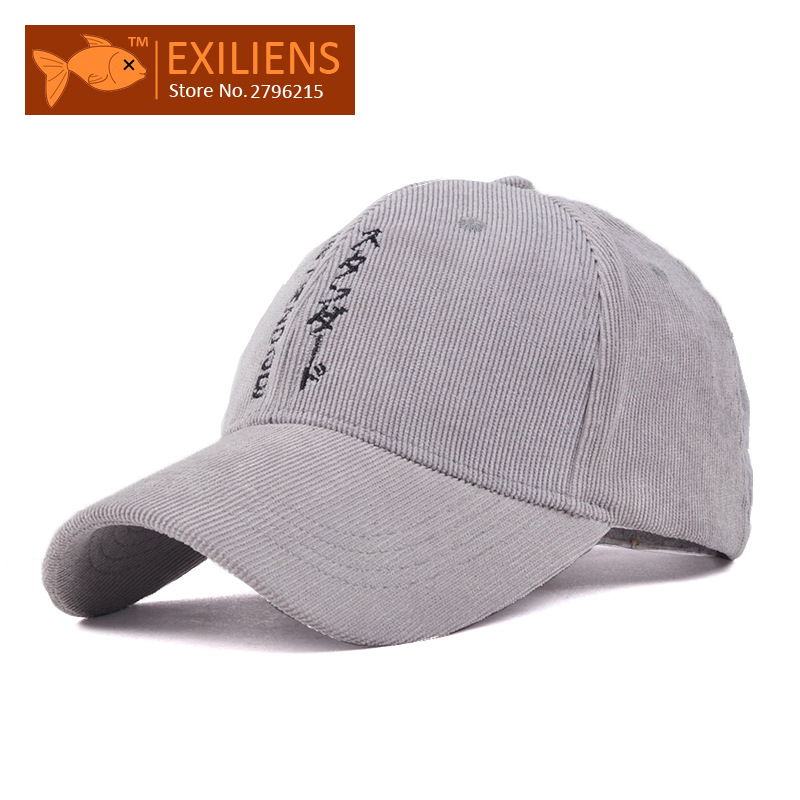 [EXILIENS] 2017 New Fashion Brand Snapback Caps Corduroy Japanese Strapback Baseball Cap Bboy Hip-hop Hats For Men Women Fitted 2016 new new embroidered hold onto your friends casquette polos baseball cap strapback black white pink for men women cap