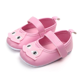Newborn PU Leather Cartoon Handmade Infant Toddler Non-Slip Soft Outdoor Shoes Crib Kid First Walkers image