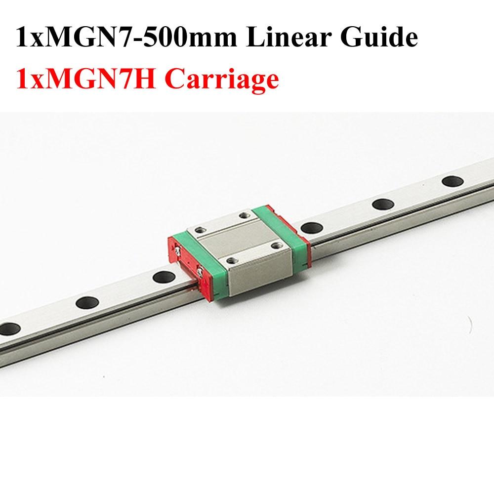 MR7 7mm MGN7 Mini Linear Guide Rail Length 500mm 3D Printer Kossel With MGN7H Linear Block Cnc flsun 3d printer big pulley kossel 3d printer with one roll filament sd card fast shipping