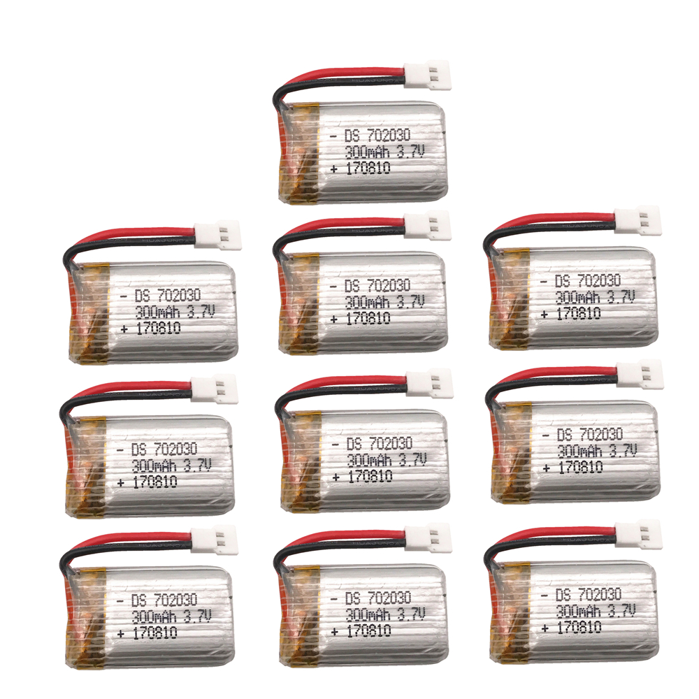 High Quality <font><b>3.7V</b></font> <font><b>300mAh</b></font> <font><b>Lipo</b></font> <font><b>Battery</b></font> for E55 FQ777 FQ17W DiFeida F180 FY530 RC Quadcopter Hot Sale Drone Spare Part image