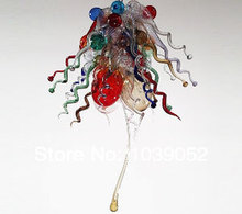 Multi Colored Modern LED Blown Glass Antler Chandelier