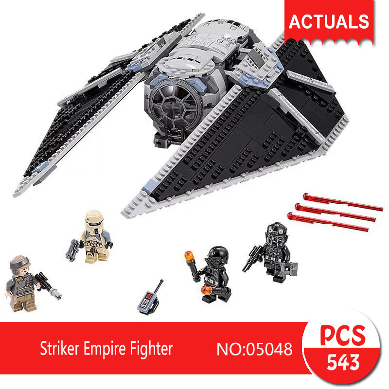 Lepin 05048 543Pcs Striker Empire Fighter Model Building Blocks Set  Bricks Toys For Children Gift Action figures 75154 lepin 05048 star series wars 543pcs the tie striker fighter model building blocks bricks toys compatible with 75154 children toy