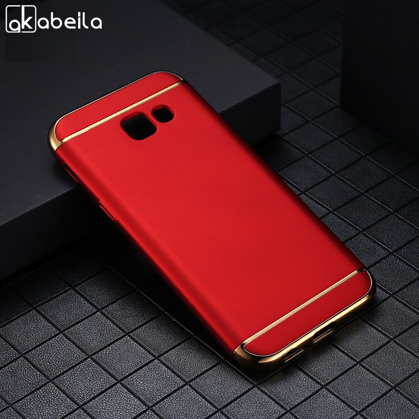 AKABEILA Plating Plastic Case For Samsung Galaxy J3 2017 J330F/DS J3 Pro 2017 5.0 inch US Version Covers Matte Phone Plating