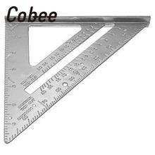 7 zoll Cobee Legierung Platz Winkelmesser Framing Carpenter Messung Werkzeug Professionelle Mess material escolar schule liefert
