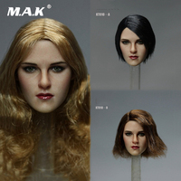 1/6 Scale Female Head Sulpt European Beauty Girl Head Sclupt with Long/Short Hair KT010 A/B/C for 12 inches Woman Action Figure