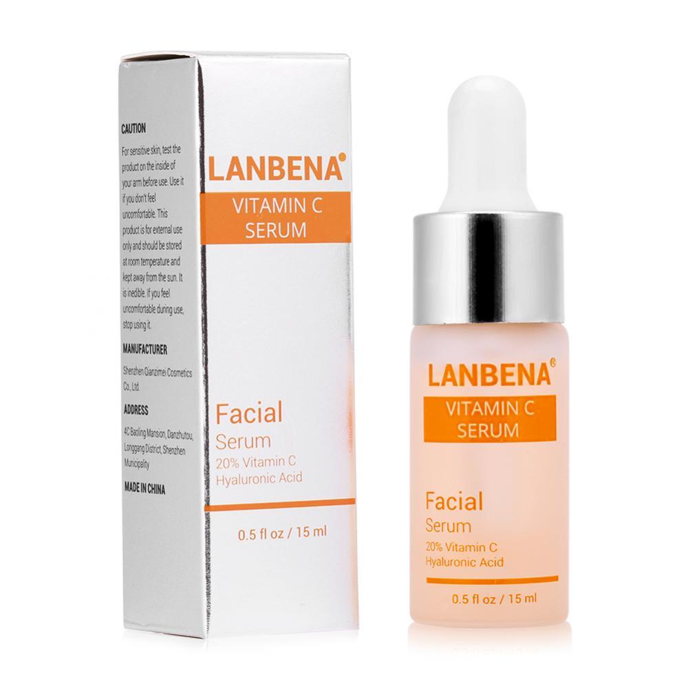 Vitamin C Whitening Serum Anti-aging Hyaluronic Acid Remove Freckle Speckle Fade Dark Spot Whiten Moisturize Facial Skin Care