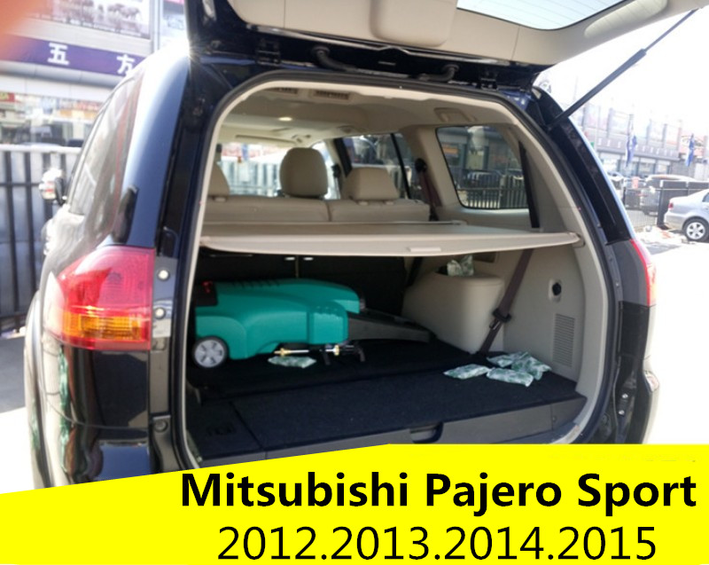 Car Rear Trunk Security Shield Cargo Cover For Mitsubishi Pajero Sport 2012.2013.2014.2015 High Qualit Auto Accessories car rear trunk security shield cargo cover for dodge journey 5 seat 7 seat 2013 2014 2015 2016 2017 high qualit auto accessories