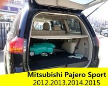 Tronco posterior del coche escudo de seguridad cargo cover para mitsubishi pajero sport 2012.2013.2014.2015 accesorios de automóviles de alta quali