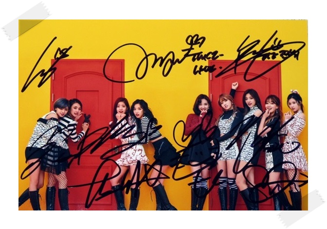 TWICE autographed signed original group photo picture 4*6 inches collection freeshipping 02.2017