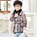 GirlsDown CoatHot moda Marca Niños Abrigos de Invierno Ropa Infantil de Estilo Británico Detonó Condado Xingzi Abajo Abajo