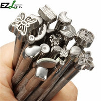 20pcs LOT Leather Tools DIY Leather Working Saddle Making Tools Set Carving Leather Craft Stamps Set