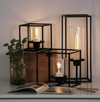 office study iron cubic meter The design of the light table lamp simple bedroom bedside retro industrial wind GY203