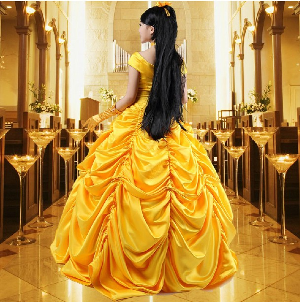 New Custom made Fantasia Women Halloween Cosplay Southern Beauty And The Beast Adult Princess Belle Costume