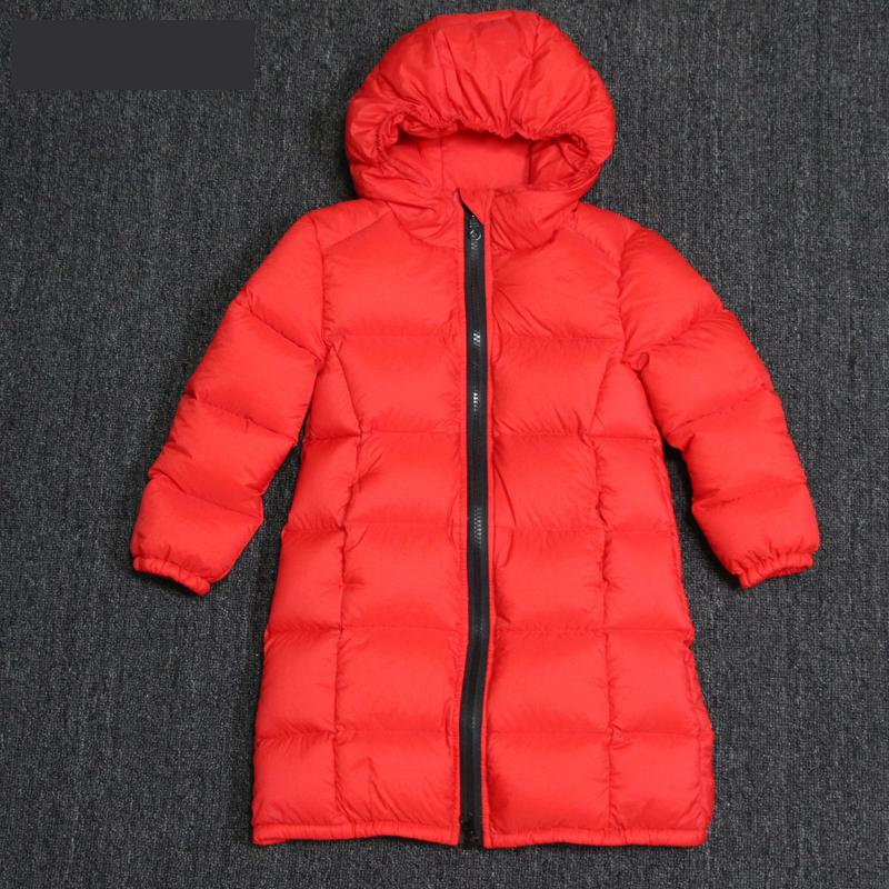 Children New Thicken Down Jacket Baby Boys Fahsion Hoodie Warm Clothes Long Outwear Russia Winter Jackets Coats Girls Down Coats