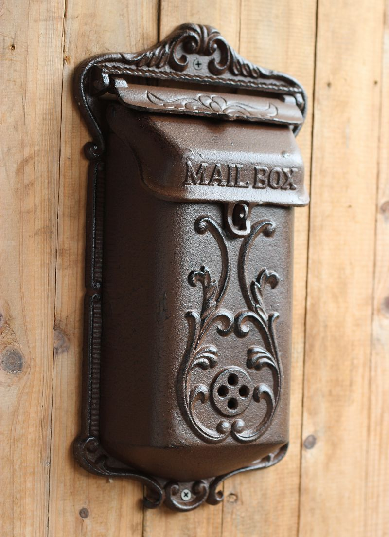 Vintage muoti rauta postilaatikko pilari-box takorauta koriste 1308