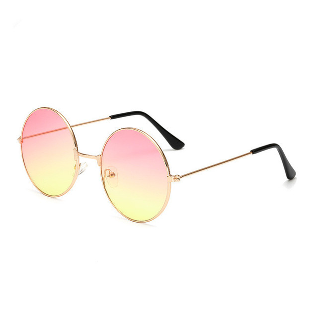 2019 Metal Round Sunglasses Men Women Personality Gradient Small Sun Glasses Mirror Shades Sunglass for Womens Mens UV400