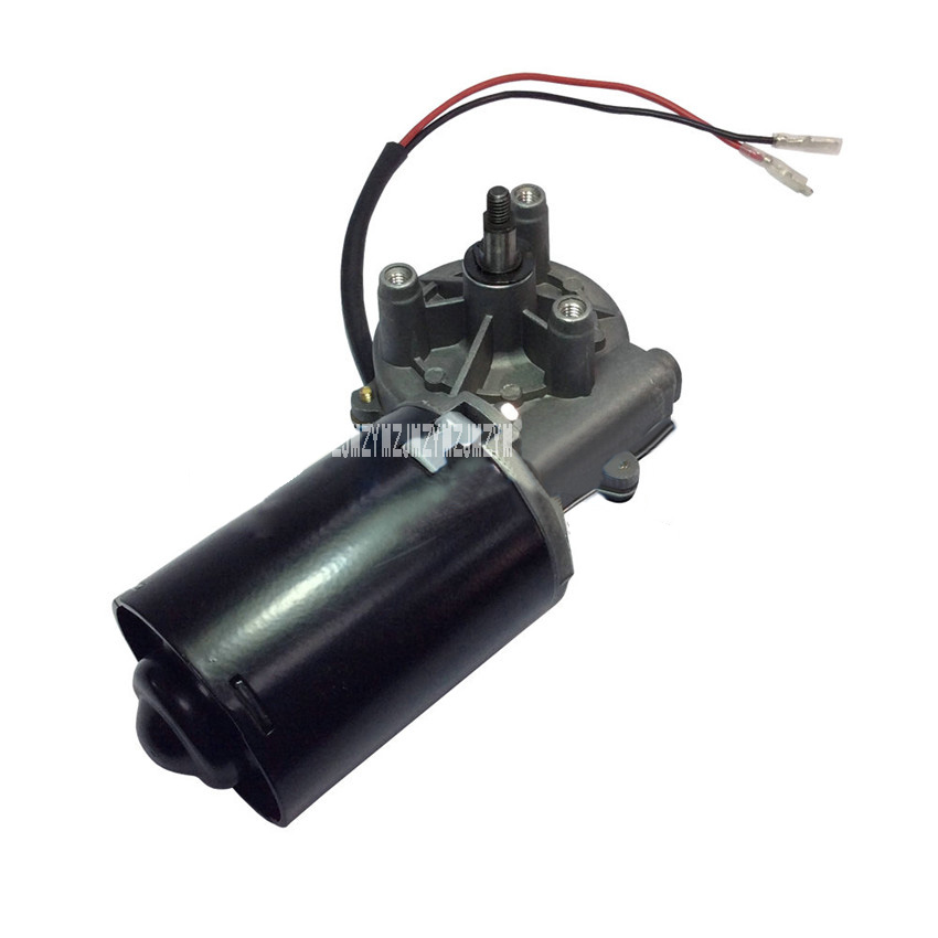 New DC Gear Motor High Torque 6N.m Garage Door Raplacement Electric Right Angle Reversible Worm Gear Motor 5A 12V/24V 30W 50RPM 1pc mini dc 12v gear reduction motor worm reversible high torque 10kg cm turbo geared motor 2 3 5 6 10 20 30 62 100 rpm mayitr