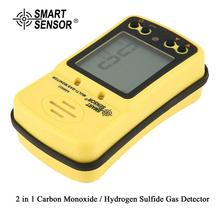 SMART SENSOR AS8903 High Sensitive CO Gas Sensor Monitor LCD Display 2 in 1 Carbon Monoxide / Hydrogen Sulfide Detector