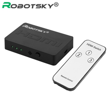 3×1 HDMI Splitter 3 Port Hub Box Auto Switch 3 In 1 Out Switcher 1080p HD 1.4 With Remote Control for HDTV XBOX360 PS3 Projector