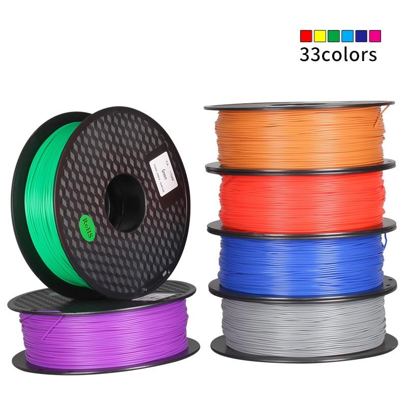 PLA 1.75mm Filament 1 KG Impression Matériaux Coloré Pour a6 a8 e10 e12 Ender-3 CR-10 CR-10S 3D Imprimante Extrudeuse stylo En Plastique pièces