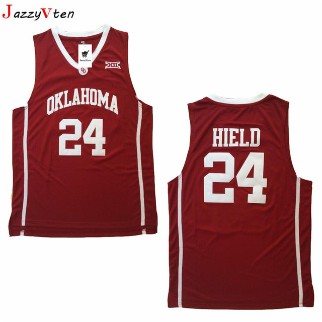 c561a4289ef6 2018New Trae Young Oklahoma Sooners College Basketball Jersey  11 Trae  Young Buddy Hield  24 Red University Basketball Shirts