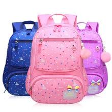 лучшая цена Primary school bag 1-3-6 grade girl princess bag 6-12 years old backpack burden reduction protection ridge floral backpack