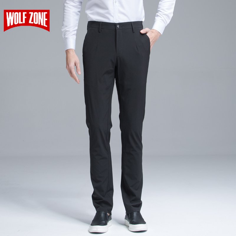 Fashion New Cotton Men Pants 2018 New Summer Men's Stretch Pant High Quality Classic Straight Joggers Business Casual Trousers