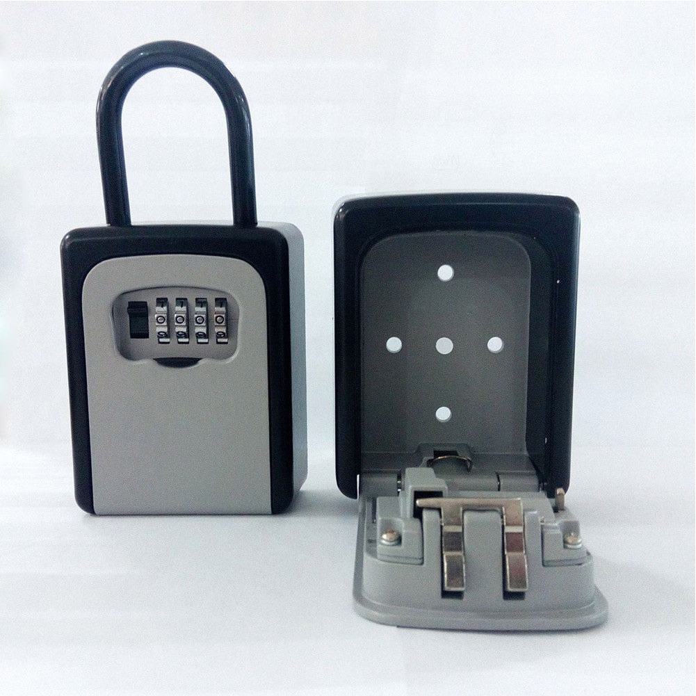 High Quality 4-Digit Combination Lock Key Safe Storage Box Padlock Security Home Outdoor Supplies