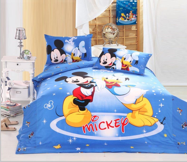 mickey mouse Donald Duck print bedding boys children home textile cotton bedclothes twin full queen size quilt duvet cover setsmickey mouse Donald Duck print bedding boys children home textile cotton bedclothes twin full queen size quilt duvet cover sets