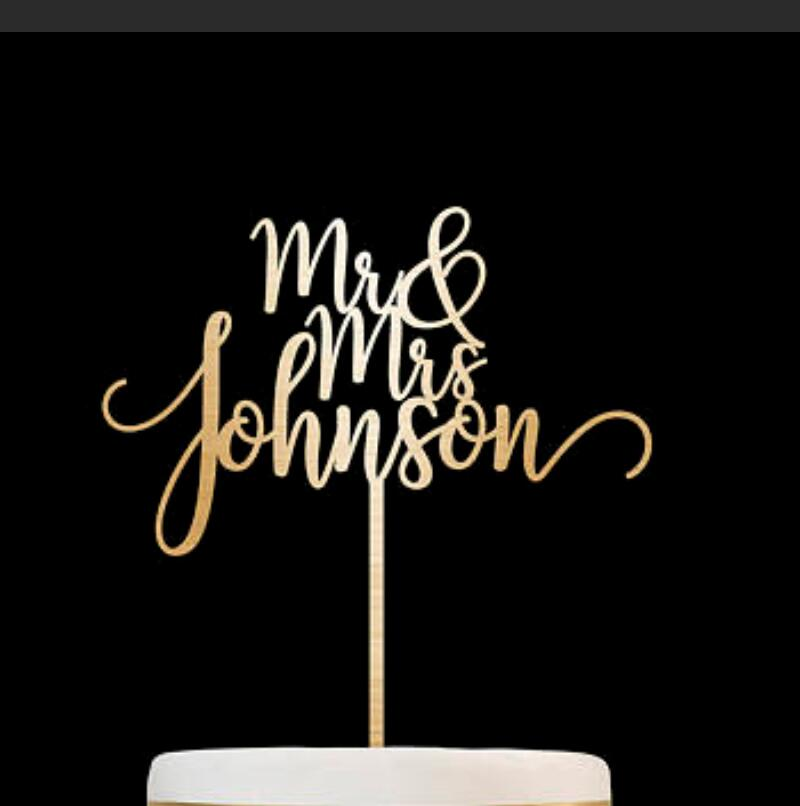 Customized Wedding Cake Topper, Personalized Cake Topper for Wedding, Custom Personalized Wedding Cake Topper, Mr and Mrs Cake