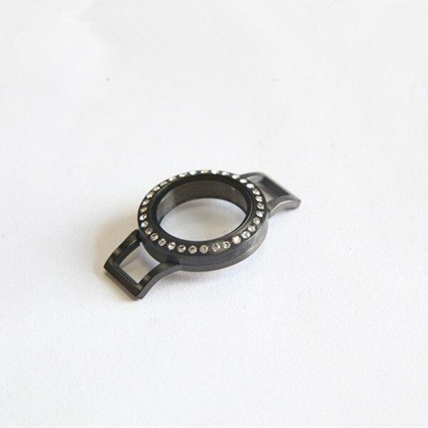 Offre spéciale argent et noir mélangé 25mm torsion en acier inoxydable médaillon Bracelet pour Bracelet en cuir 10 pcs/lot-in Wrap Bracelets from Bijoux et Accessoires    3