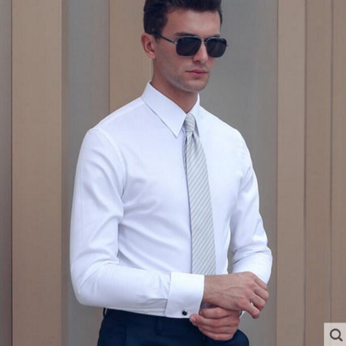 100 Cotton Shirts Men Professional Tailor made Solid Color Black White Sky Blue Light Purple Shirt