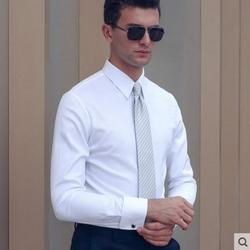 100%Cotton Shirts Men Professional Tailor-made Solid Color Black White Sky Blue Light Purple Shirt Hight Quality