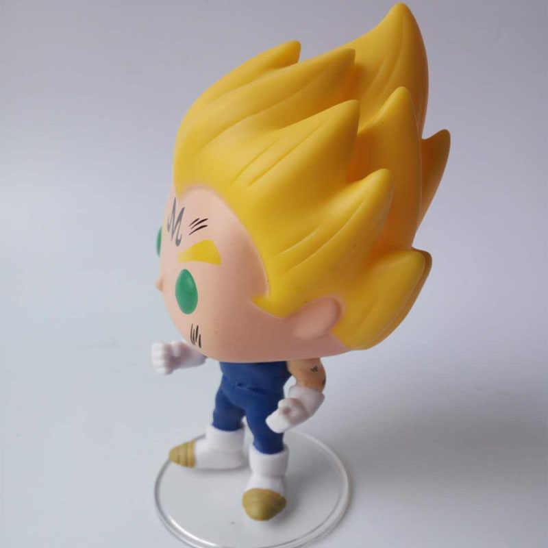 Funko pop japonês anime dragon ball majin vegeta #445 vinil figura de ação coleção modelo brinquedos para crianças presente aniversário