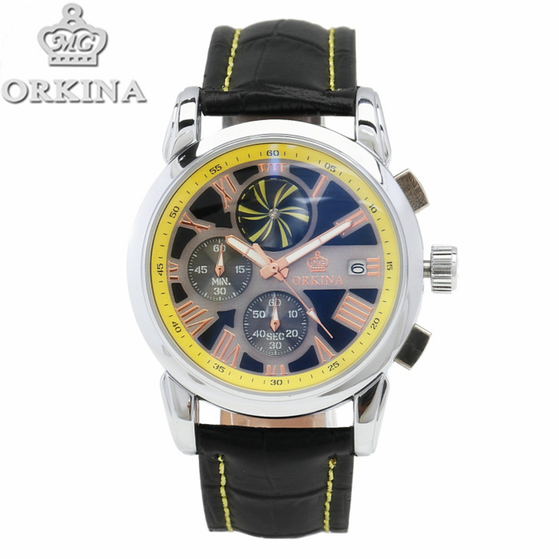 new fashion impeller rotate chronograph quartz